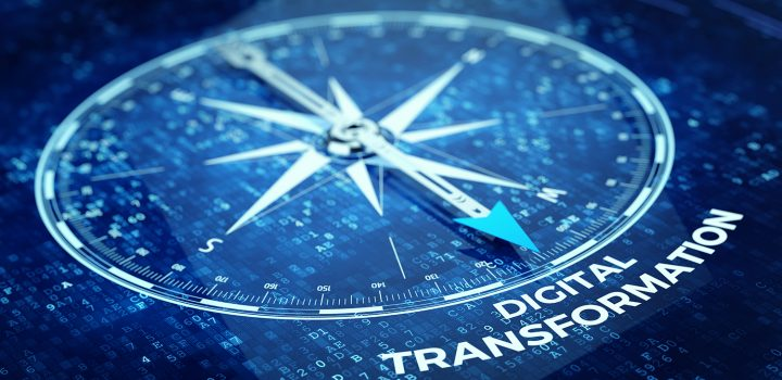 Digital,Transformation,Concept,-,Compass,Needle,Pointing,Digital,Transformation,Word.